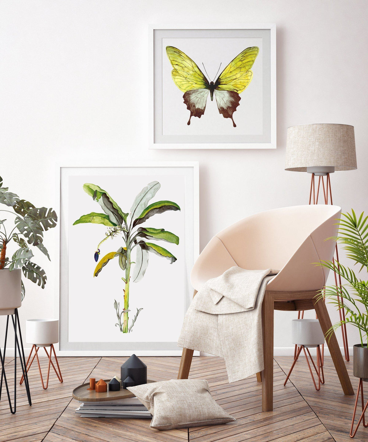 Kunstdruck - GREEN BUTTERFLY Kunstdruck Leo la Douce