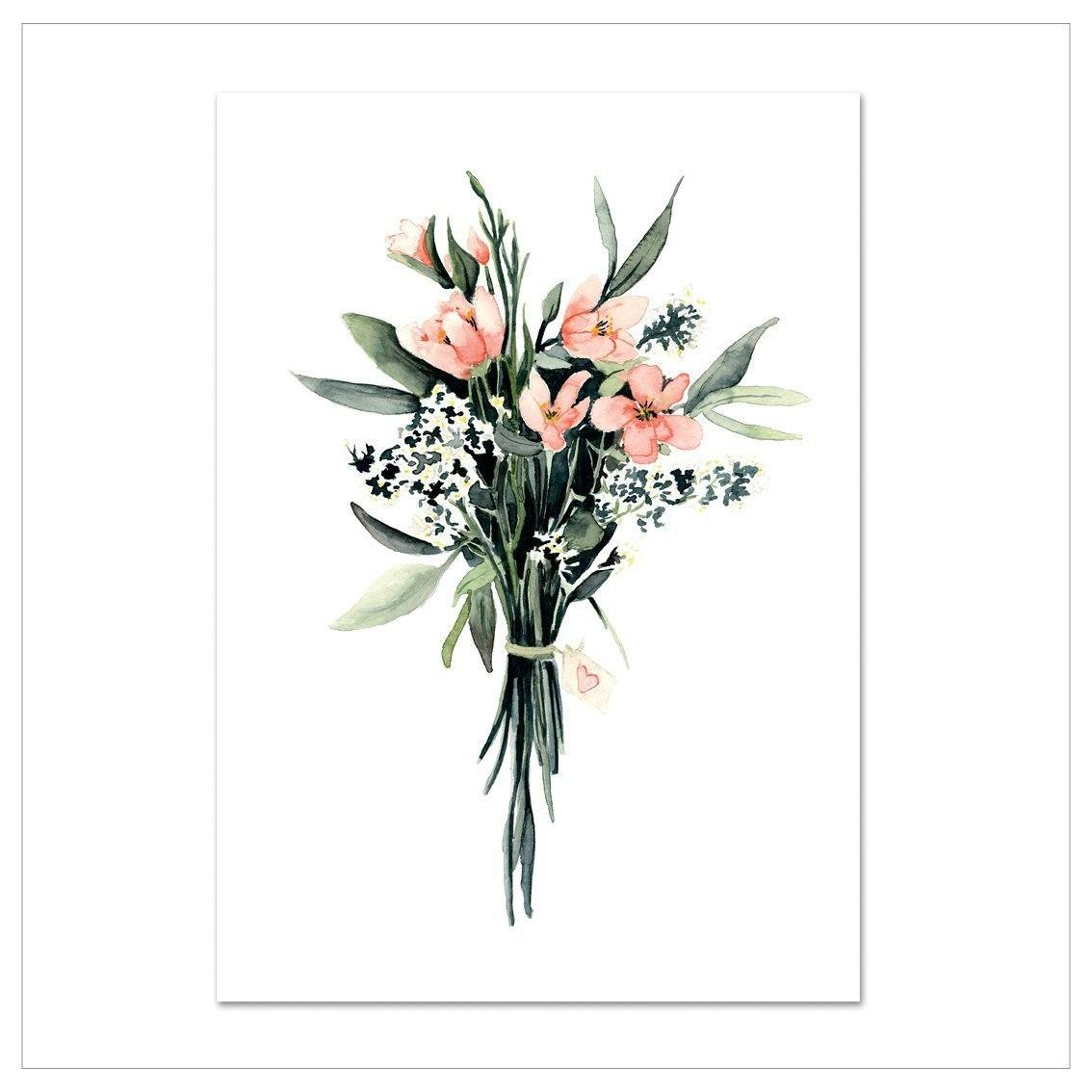 Kunstdruck - FLOWER BOUQUET Kunstdruck Leo la Douce