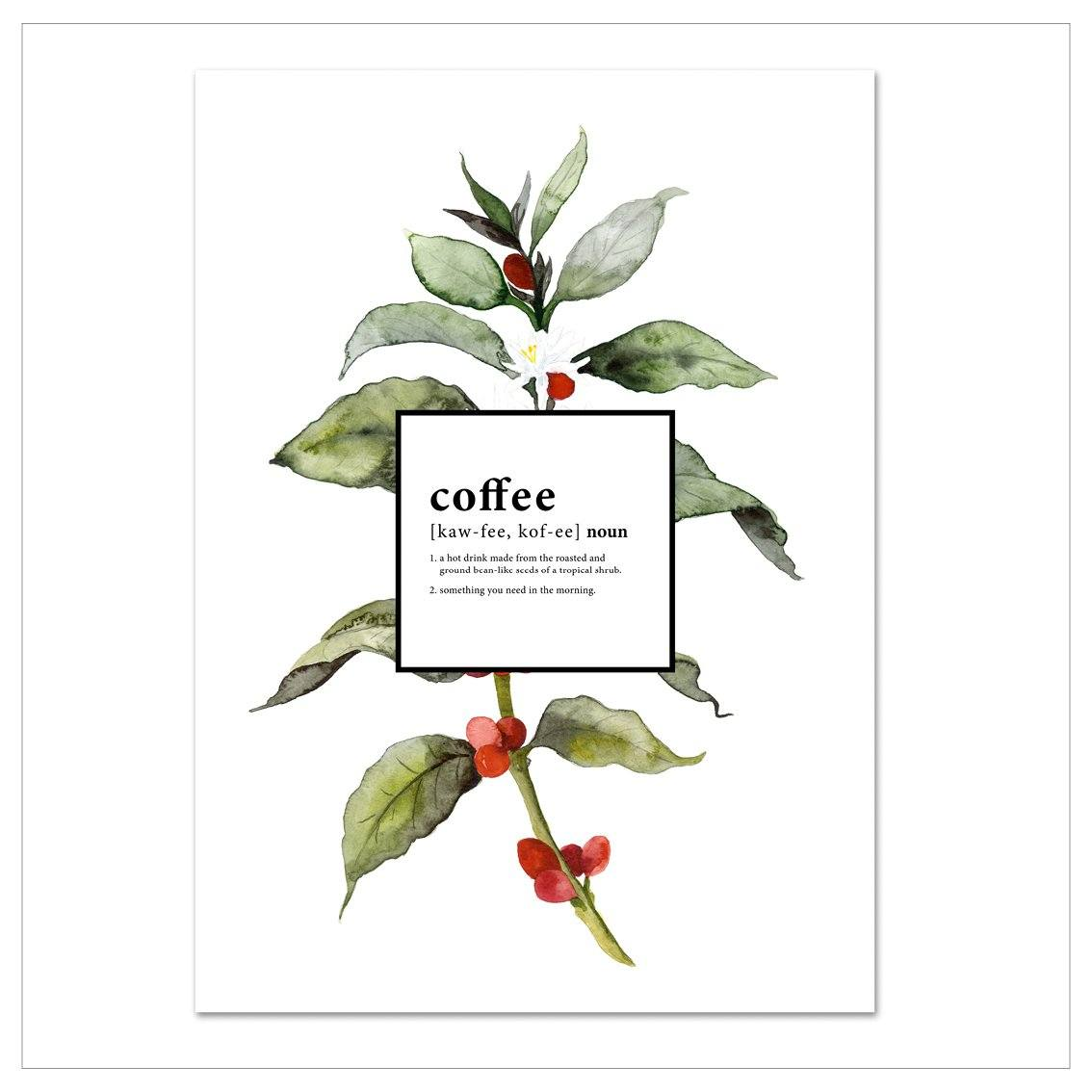 Kunstdruck - WHAT'S COFFEE Kunstdruck Leo la Douce