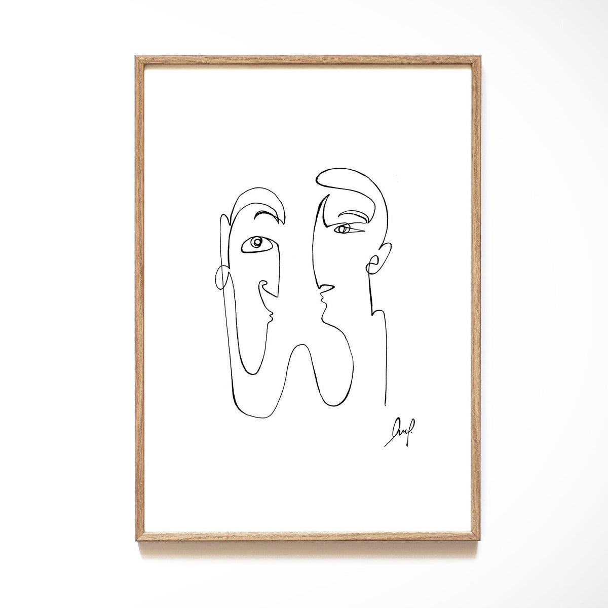 Kunstdruck - ART LINE - COUPLE Kunstdruck Leo la Douce