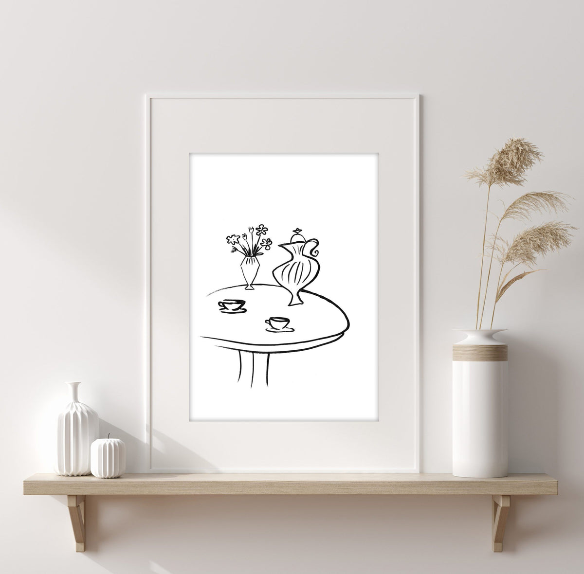 Kunstdruck - ART LINE - B/W COFFEETABLE Kunstdruck Leo la Douce