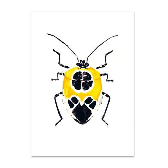 Kunstdruck - YELLOW BEETLE Kunstdruck Leo la Douce