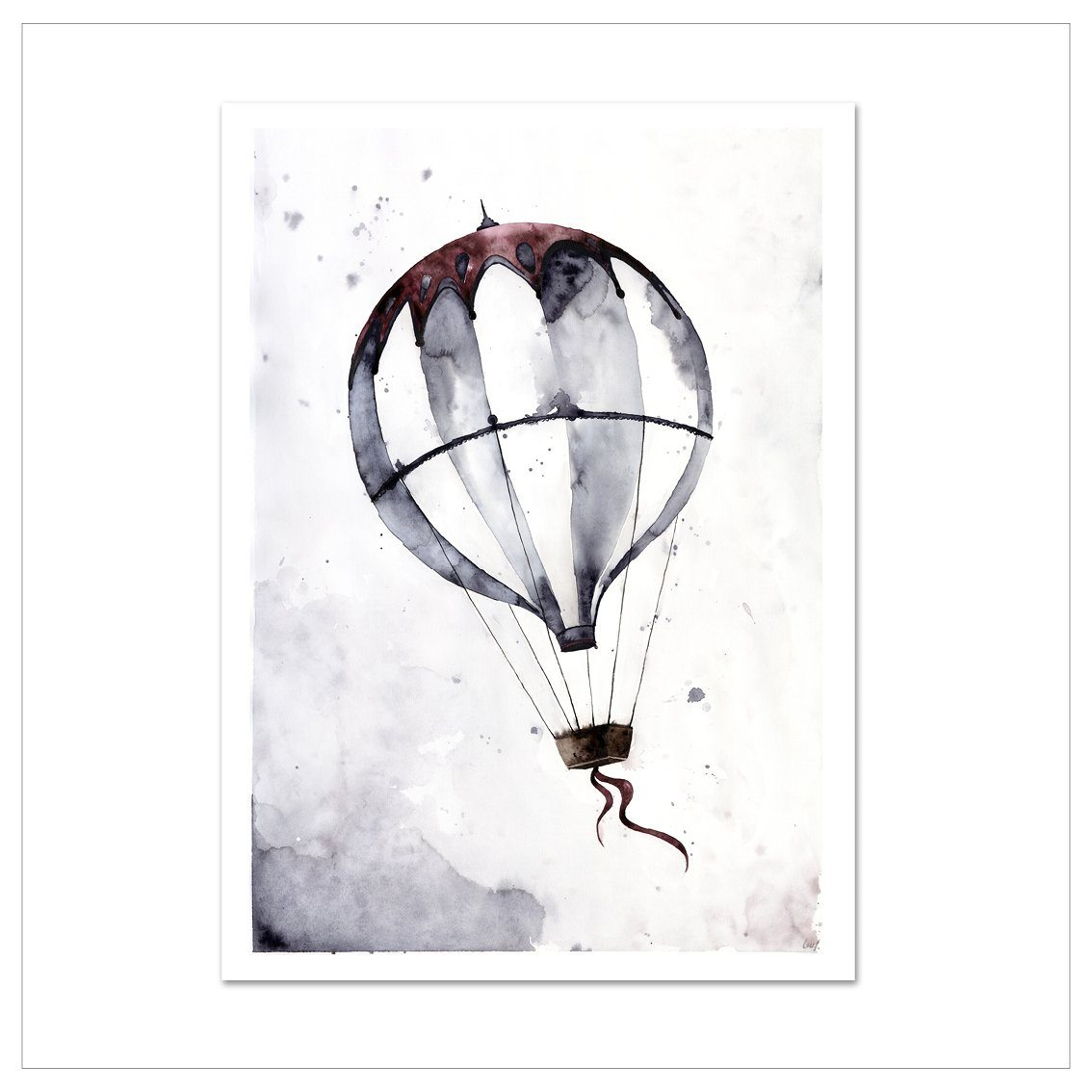 Kunstdruck - FLYING BALLOON Kunstdruck Leo la Douce