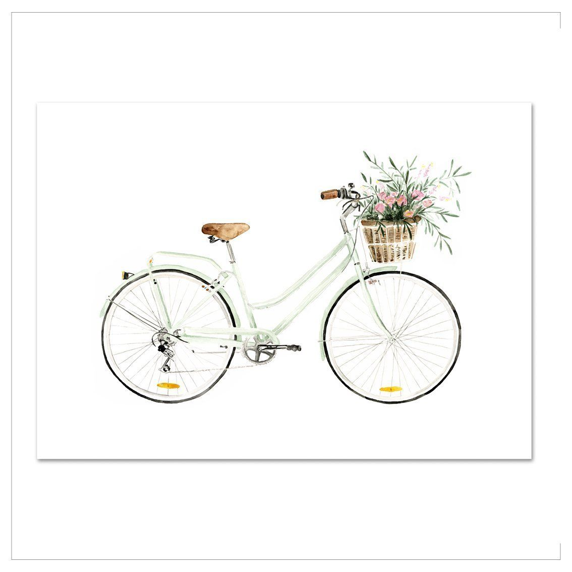 Kunstdruck - BICYCLE-LOVE Kunstdruck Leo la Douce