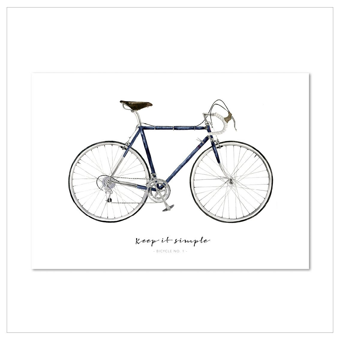 Kunstdruck - KEEP IT SIMPLE | BICYCLE NO.1 Kunstdruck Leo la Douce