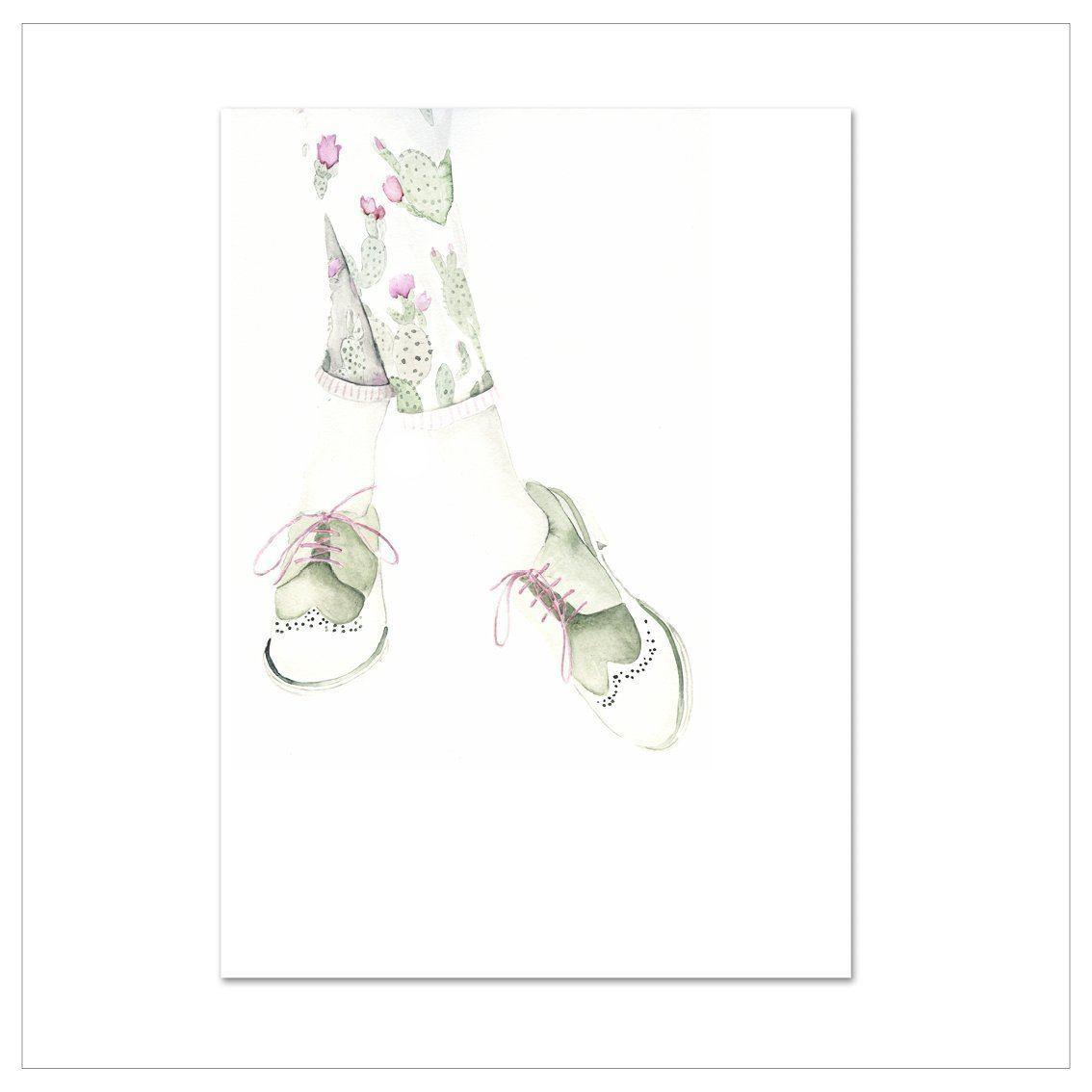 Kunstdruck - GREEN ROSE SHOES Kunstdruck Leo la Douce