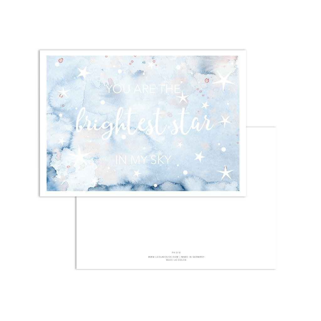 Postkarte - Brightest star in my sky Postkarte Leo la Douce