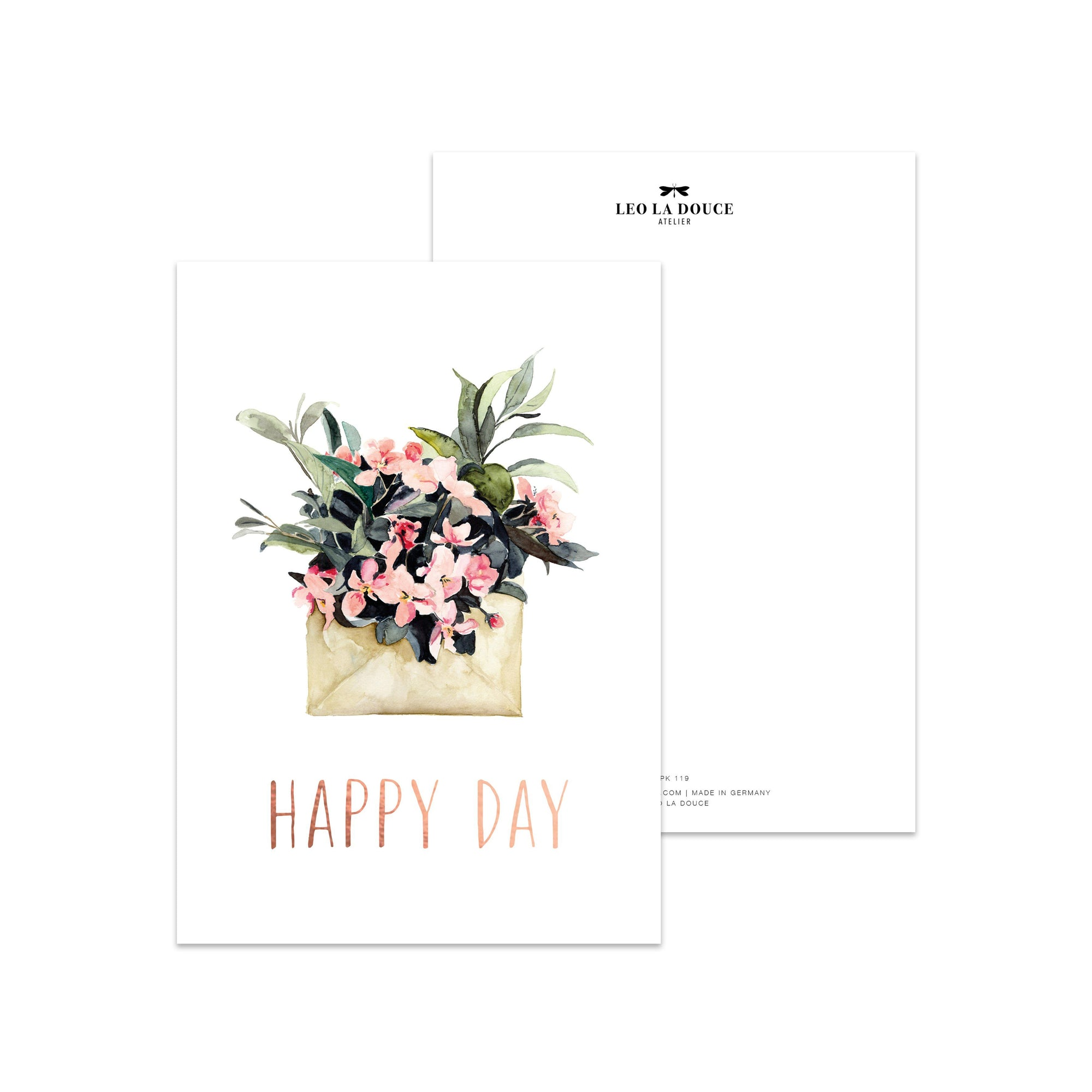 Postkarte - HAPPY DAY Postkarte Leo la Douce
