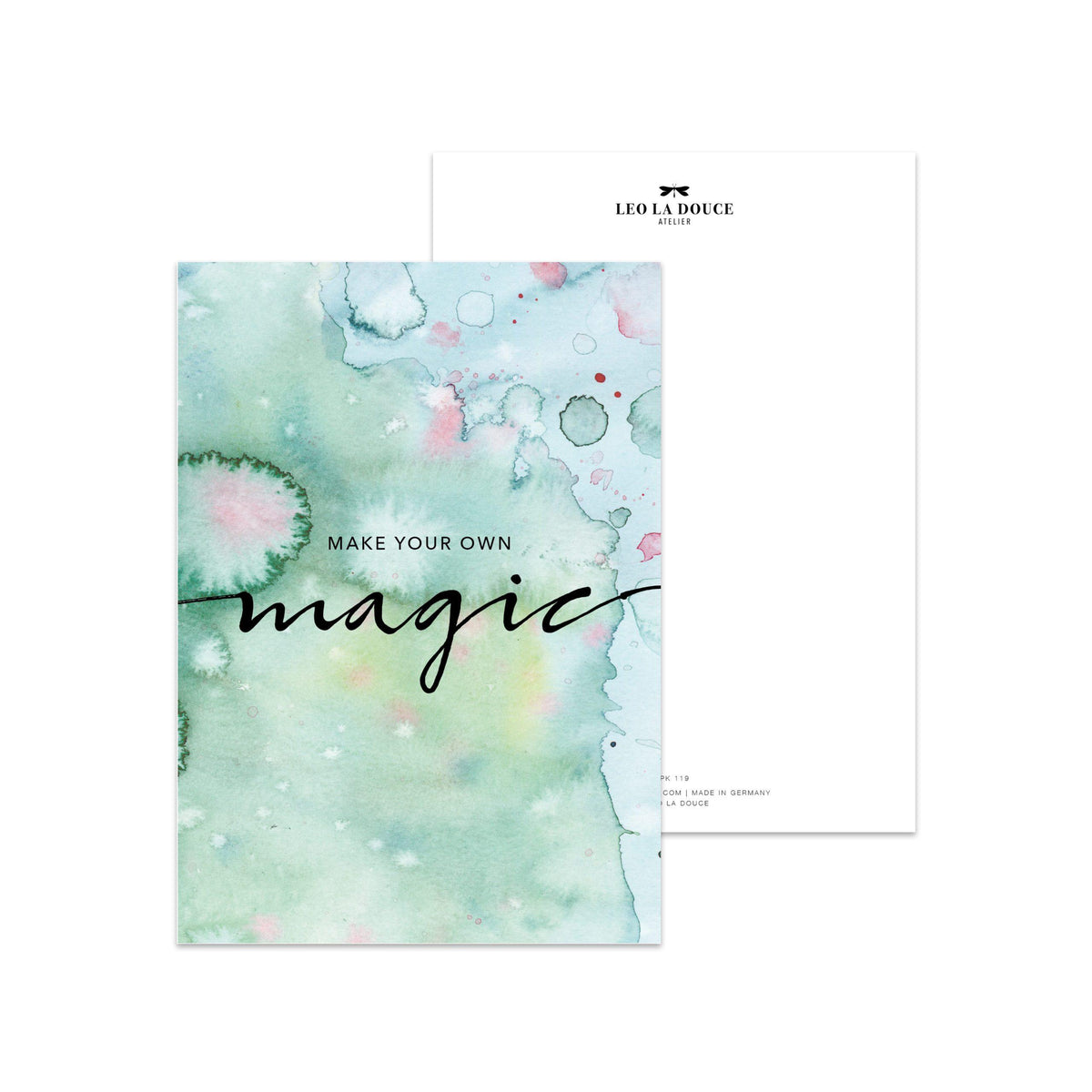 Postkarte - MAKE YOUR OWN MAGIC Postkarte Leo la Douce