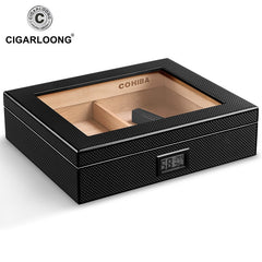 Cigar Humidor Set with Humidifier & Hydrometer