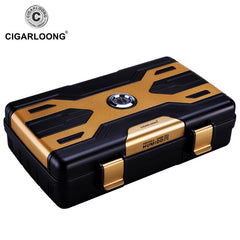 CIGARLOONG portable cigar humidor box  cigar case holds 10 cigars