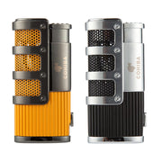 COHIBA Cigar Lighter Butane 3 Torch Jet Flame Lighter With Cigars Cutter Punch