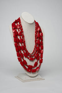 Fiesta Necklace Emerald Cut - Cherry - Necklace