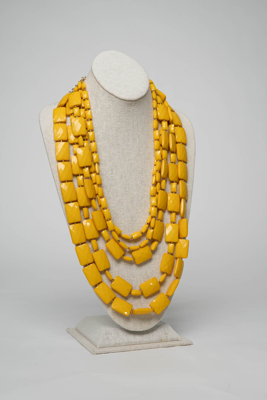 Fiesta Necklace Emerald Cut - Lemon - Necklace