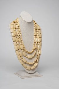 Fiesta Necklace Emerald Cut - Oatmeal - Necklace