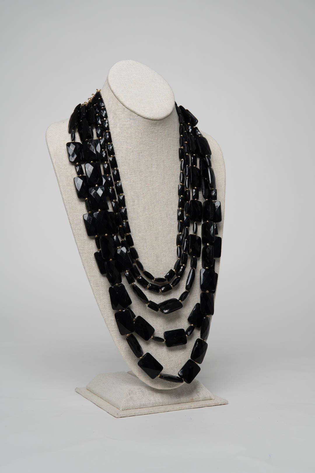 Fiesta Necklace Emerald Cut - Onyx - Necklace