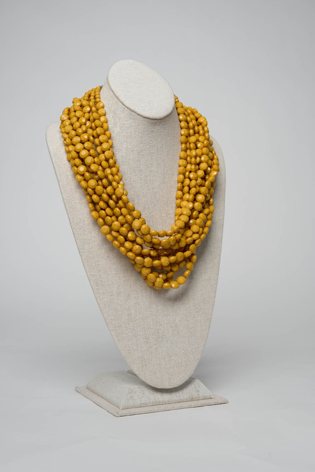 Fiesta Necklace Solitaire Cut - Mustard - Necklace