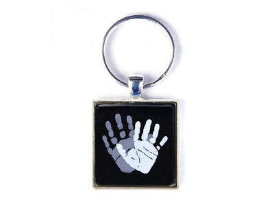 Square Keyring with Inkless Print Kit