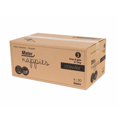 Mater Nappies-Crawler Size 3 Carton