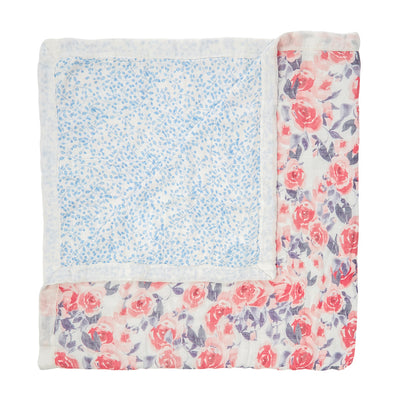 Watercolour Garden Roses Silky Soft Dream Blanket