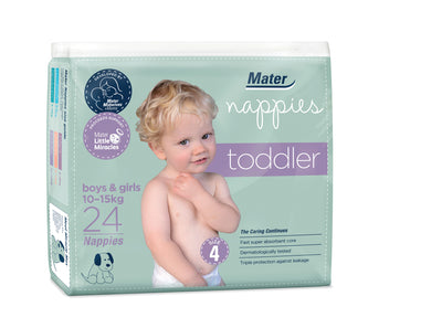 Mater Nappies-Toddler Size 4 Pack