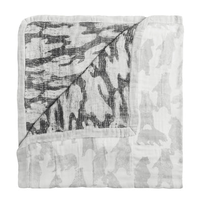 Foragers Bear Silky Soft Dream Blanket