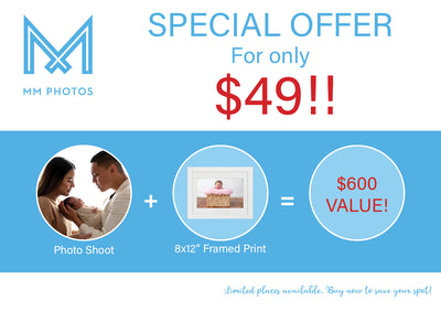 Portrait Photography Package valued at $600 for only $49