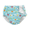 Fun Snap Reusable Absorbent Swimsuit Diaper-Light Aqua Sea Friends