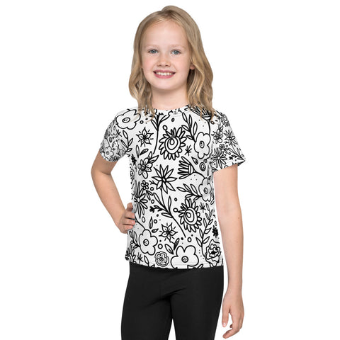 Kids Coloring Book Tee - Be A Wildflower