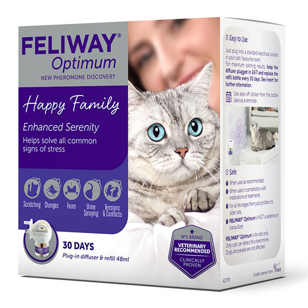 Feliway Optimum Diffuser and Refill (48ml) at Petremedies
