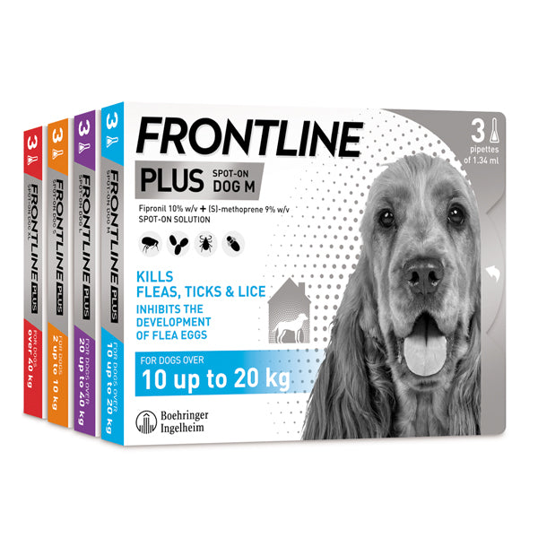 Frontline Plus for dogs at Petremedies