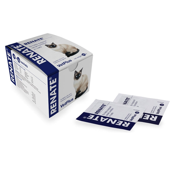 VetPlus Renate Renal Supplement for Cats (30 x 2g Sachets) at Petremedies
