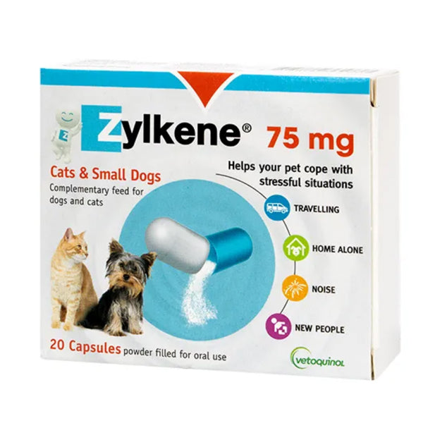 Zylkene Caps (75mg-100pk) Cats & Dogs at Petremedies