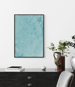 Framed Art Blue Strokes