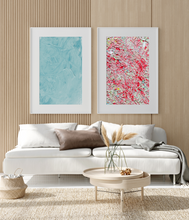 Load image into Gallery viewer, Framed Art Blue Paint Strokes and Multi colored waves