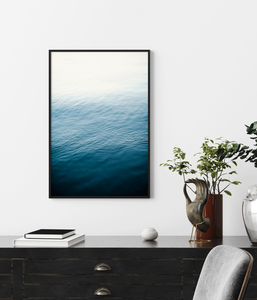 Framed Art Blue Water Waves Ripples
