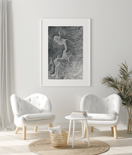 Load image into Gallery viewer, Framed Print Marsh black white