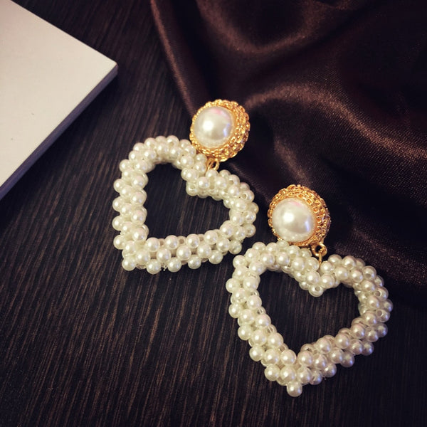 Princesse Isabelle Statement Heart Earrings