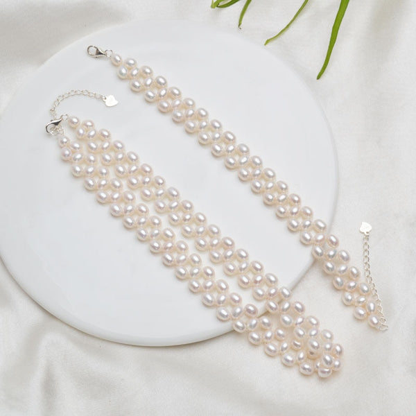 Princesse Era Genuine Pearl Choker