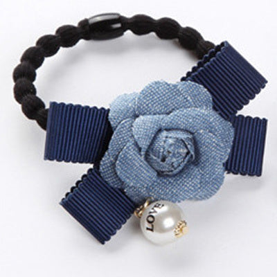 Denim hair tie