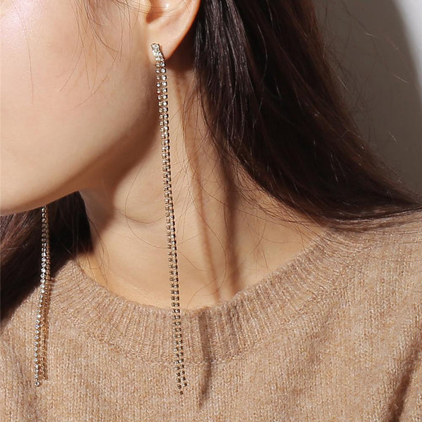 Minimalist long Tassel Earring