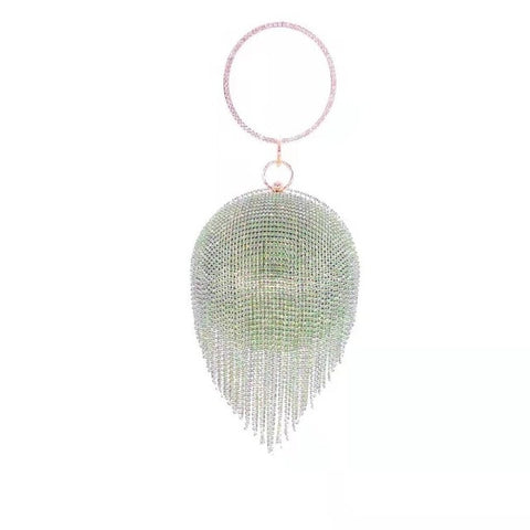 Disco Ball Tassel Clutch