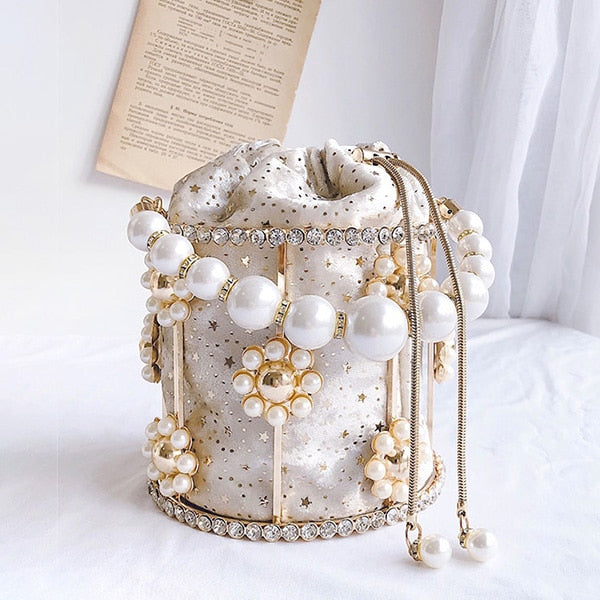pearl flower bag