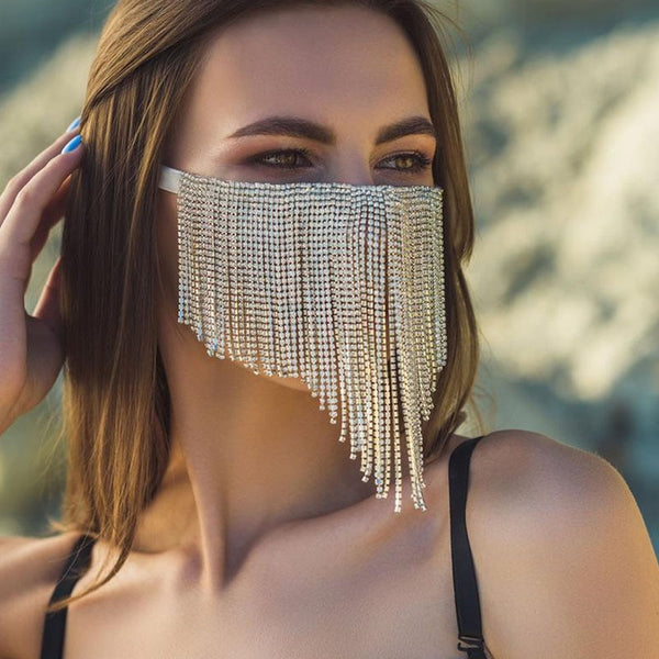 Diamond Tassel Mouth Cover