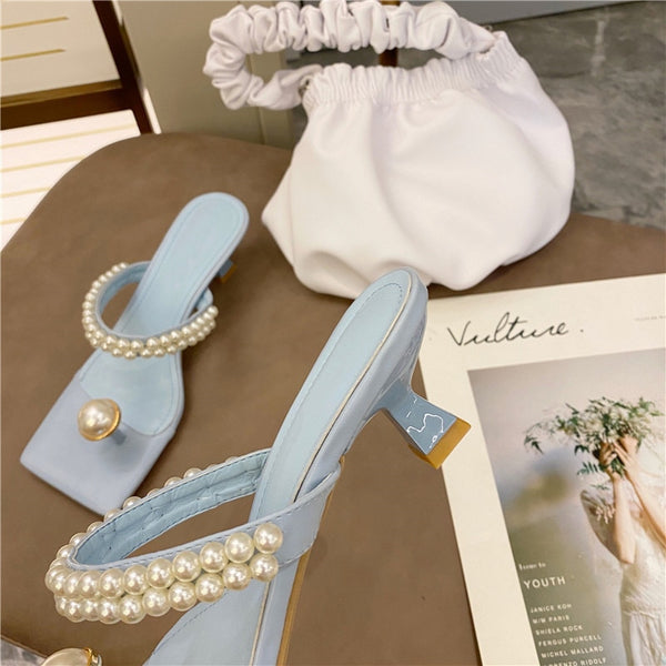 Girly Pearly Heels