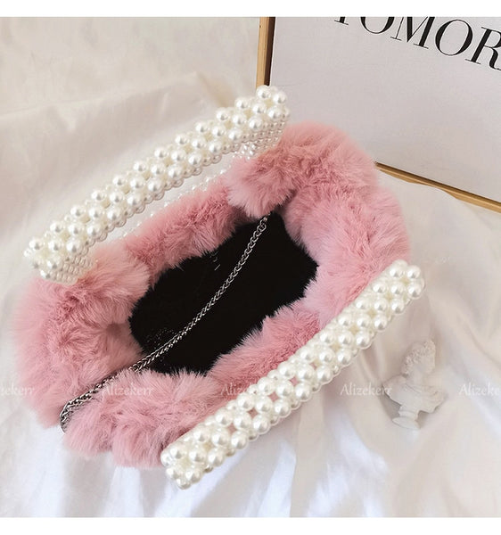 Princesse Anika Faux Fur Bag