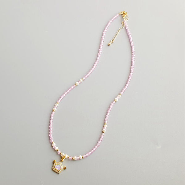 Pearl Princesse Opal and Freshwater Pearl Necklace