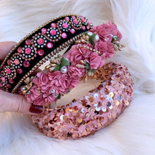 Load image into Gallery viewer, Pink Sequin Headband