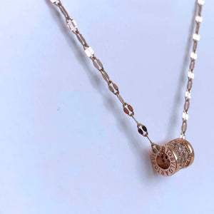 Rose Gold Barrel Necklace