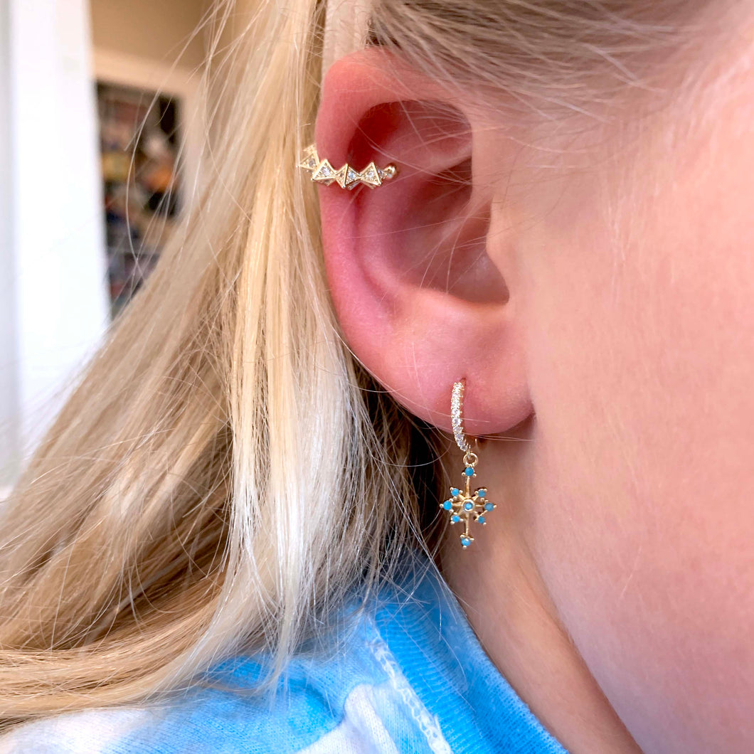 Pavé Spike Ear Cuff